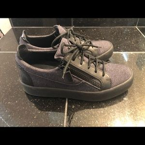High End Canvas and Leather Sneakers